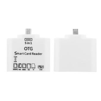 Allwin 5-in-1 OTG Card Reader micro USB untuk koneksi kit Androidhandphone putih - 2