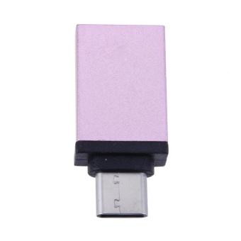 Aluminum Alloy USB3.1 Type-C to USB3.0 OTG Converter Adapter(RoseGold) - intl