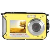 Amkov 24 Megapiksel 16 x Perkecil Tampilan Kamera Digital Camcorder Digital Perekam Video Tahan Air (Kuning)