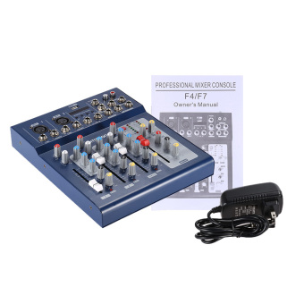 ammoon F - USB 3 Channel Audio Mixer pencampur mikrofon Digital Line konsol dengan 48 V kekuatan siluman untuk rekaman Karaoke DJ musik panggung apresiasi Outdoorfree - 4