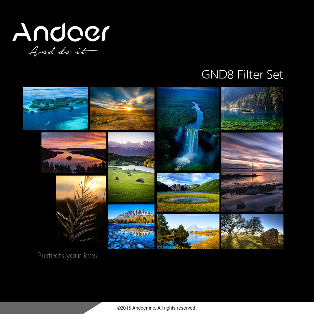 ... Andoer Circular Shape Graduated Neutral Density GND8 Graduated Gray Filter for Canon Nikon DSLR Camera ...