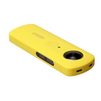 Andoer pelindung karet silikon lembut kulit penutup pelindung kasus sampul untuk Ricoh Theta S 360 derajat kamera panorama - 2