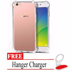 Anti Crack Casing Handphone Untuk Oppo F3 / A77 - Clear + Free Hanger Charger