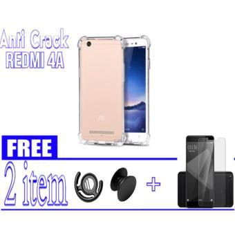 Anti crack Xiaomi Redmi 4A - Clear + FREE Popsocket + Tempered Glass