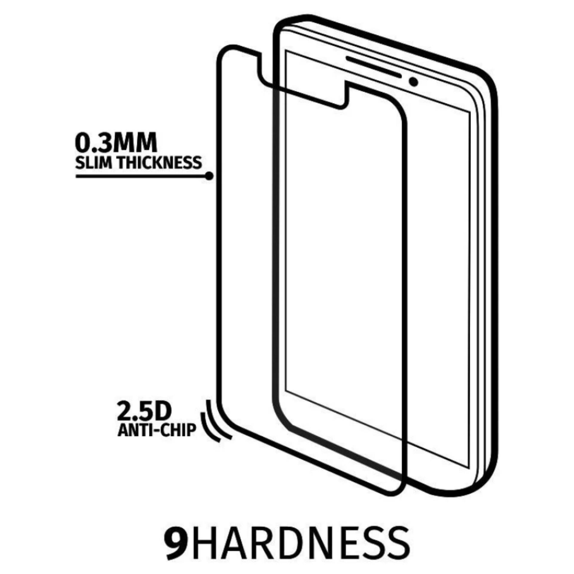 Tempered Glass For Sony Xperia M2 550h Round Edge 25d Clear Daftar Temperred Kaca Anti Gores Lenovo Zuk 2 Pro Premium