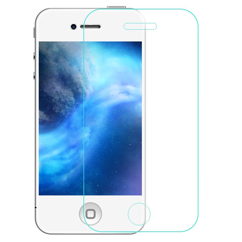 Aobn iphone4s/4S/4s high-definition depan dan kaca belakang pelindung layar pelindung