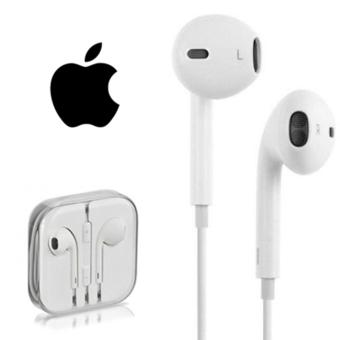Apple Handfree / Headset / Earphone In Earbud Stereo Audios HD Universal Support - Putih