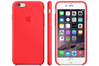 iphone 6 plus case. apple iphone 6 plus case leather original - merah iphone