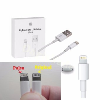 APPLE Kabel Data Charger Lightning 2M USB Kable For Iphone 5/5s/6/6s/6 plus - Putih
