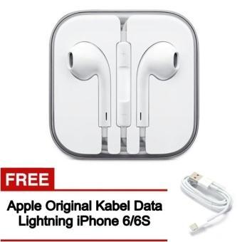 Apple Original Earphone Handsfree with Mic For apple iphone 5/5S/6 free Apple