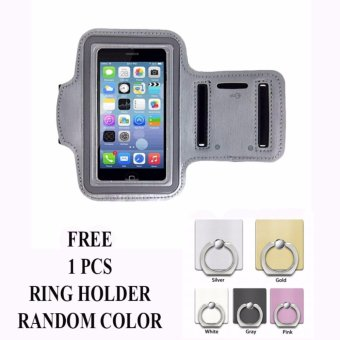 Armband untuk Infinix Hot 4 Pro (X556) + free Ring Holder - Abu-abu