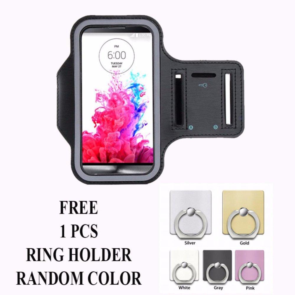 Armband untuk Infinix Note 3 (X601) + free Ring Holder - Hitam