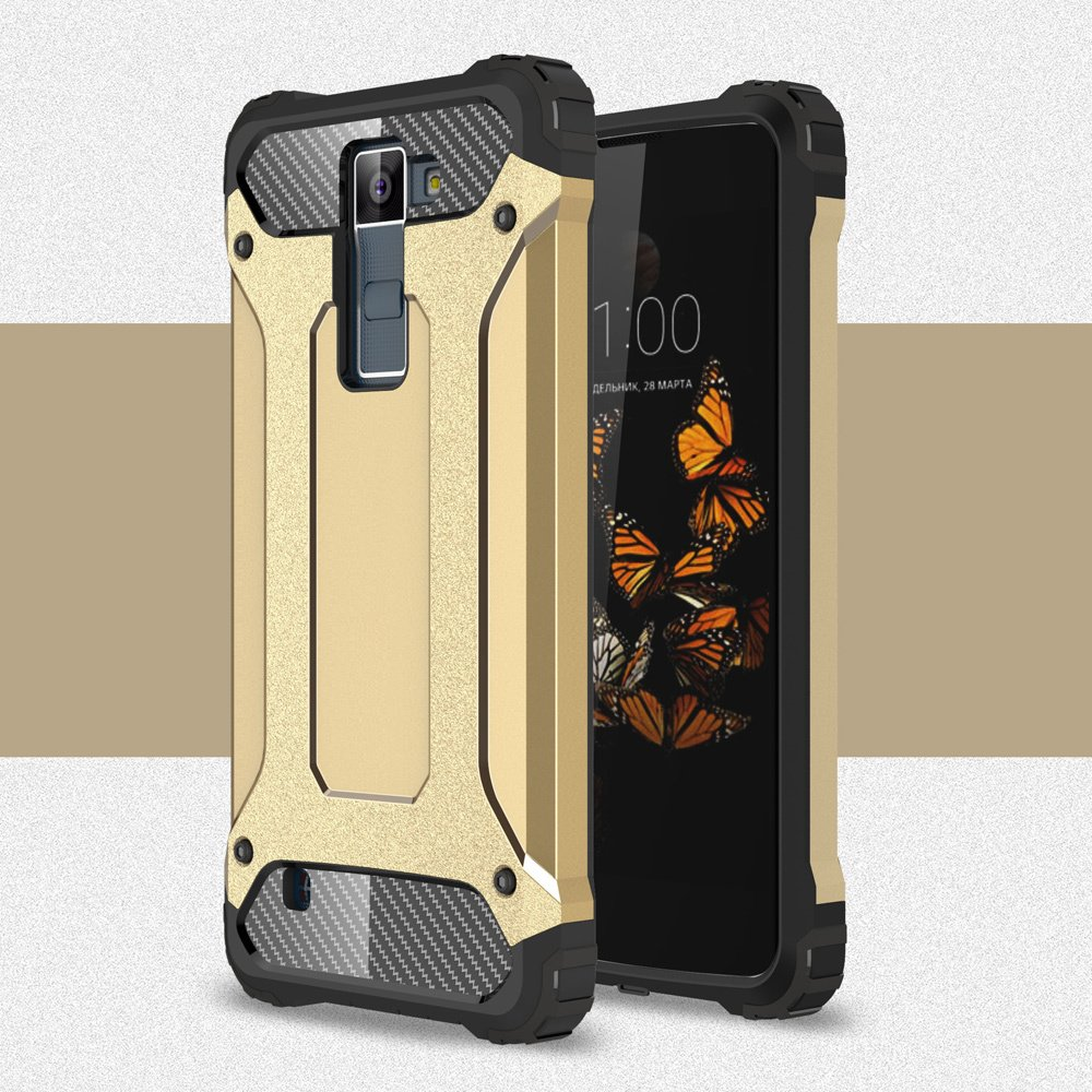 ... Armor Guard Plastic + TPU Hybrid Shell Case Cover for LG K8 (Gold) ...