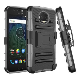 Armor Motorola Moto G5s Plus Dual Layer Shockproof Kickstand Case with Holster Belt Clip Cover