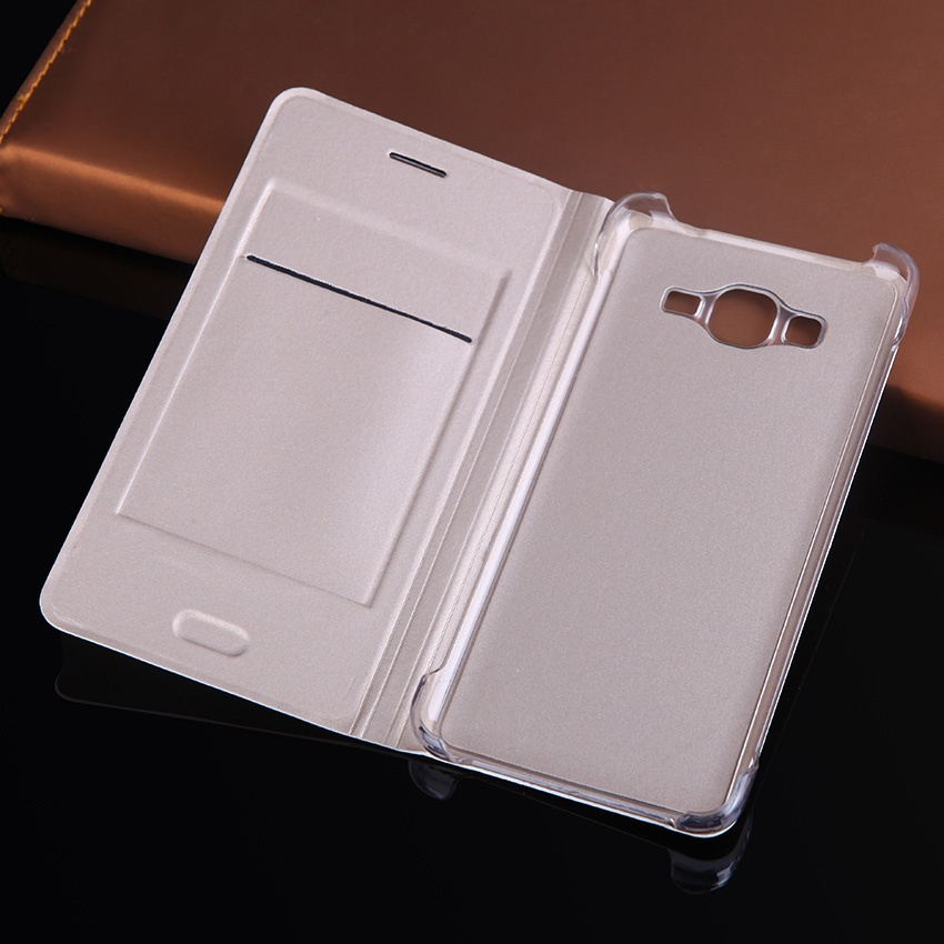 Asuwish Flip Cover Leather Case For Samsung Galaxy Grand Prime DuosG530 G530F G530H .