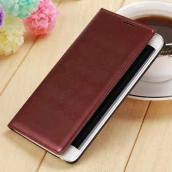 Asuwish Flip Cover Leather Case For Samsung Galaxy Note Edge N9150 N915 N915F Slim Original Phone Case Wallet + Screen Protector - intl