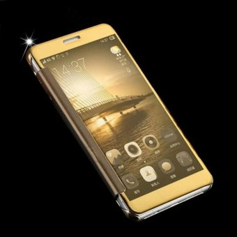 Asuwish Luxury Flip Case Transparent Clear View Mirror Cover Phone Cases For Samsung .