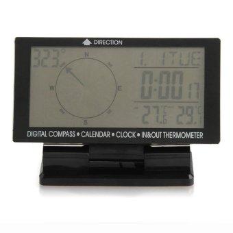 Auto Digital Kompas Elektronik dengan Jam In/Out Thermometer Kalender Baru