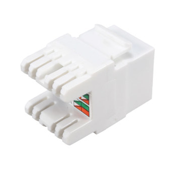 Gambar Autoleader White Cat 6 RJ45 8P8C Punchdown Keystone ModularEthernet Snap in Jack Network