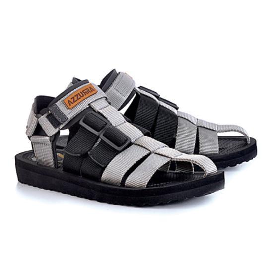 azzura 552-28 sandal gunung pria - webing - gagah dan keren (Abu-