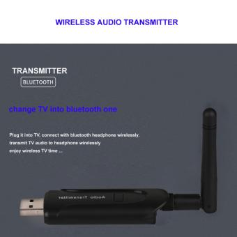 B5 Wireless audio transmitter 3.5mm Jack USB Wireless Bluetooth Music Audio Receiver(Black) - intl