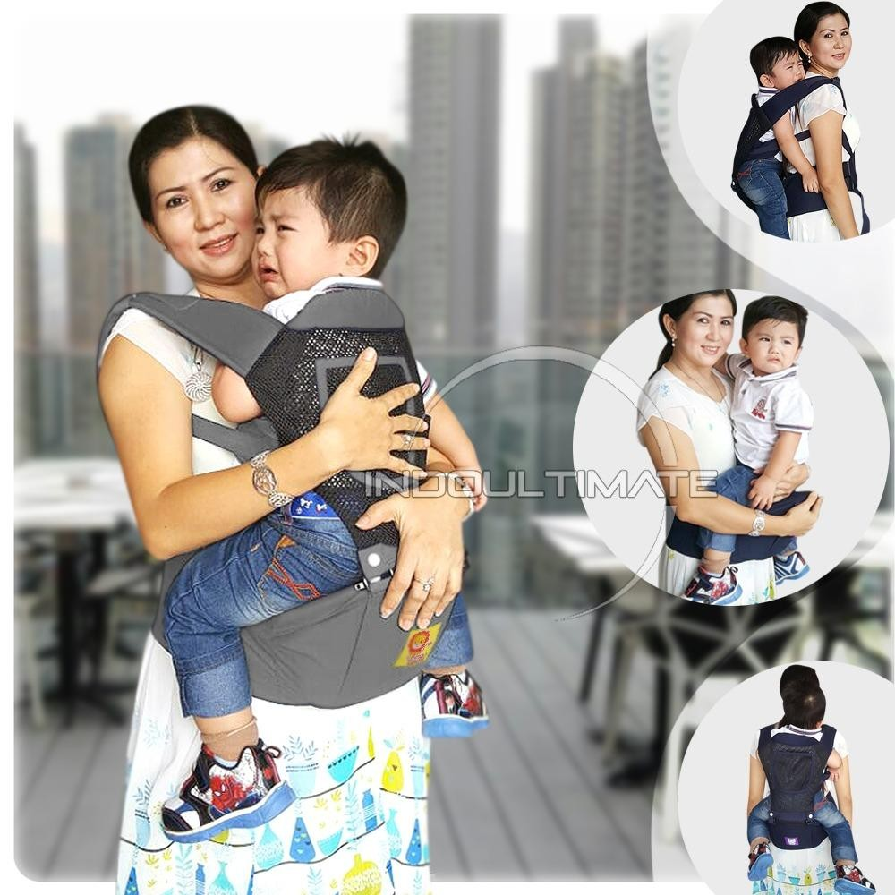 harga BABY LEON Gendongan Bayi Cotton with Hip Seat 5 in 1  Baby Carrier BY 43 GB Lazada.co.id