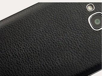 Back Case Leather Back Cover Xiaomi Redmi 2 - Hitam - 4 .