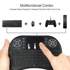 Backlit 2.4GHz Wireless Keyboard Air Mouse Touchpad Handheld Remote Control Backlight for Android TV BOX PC Smart TV Black - intl