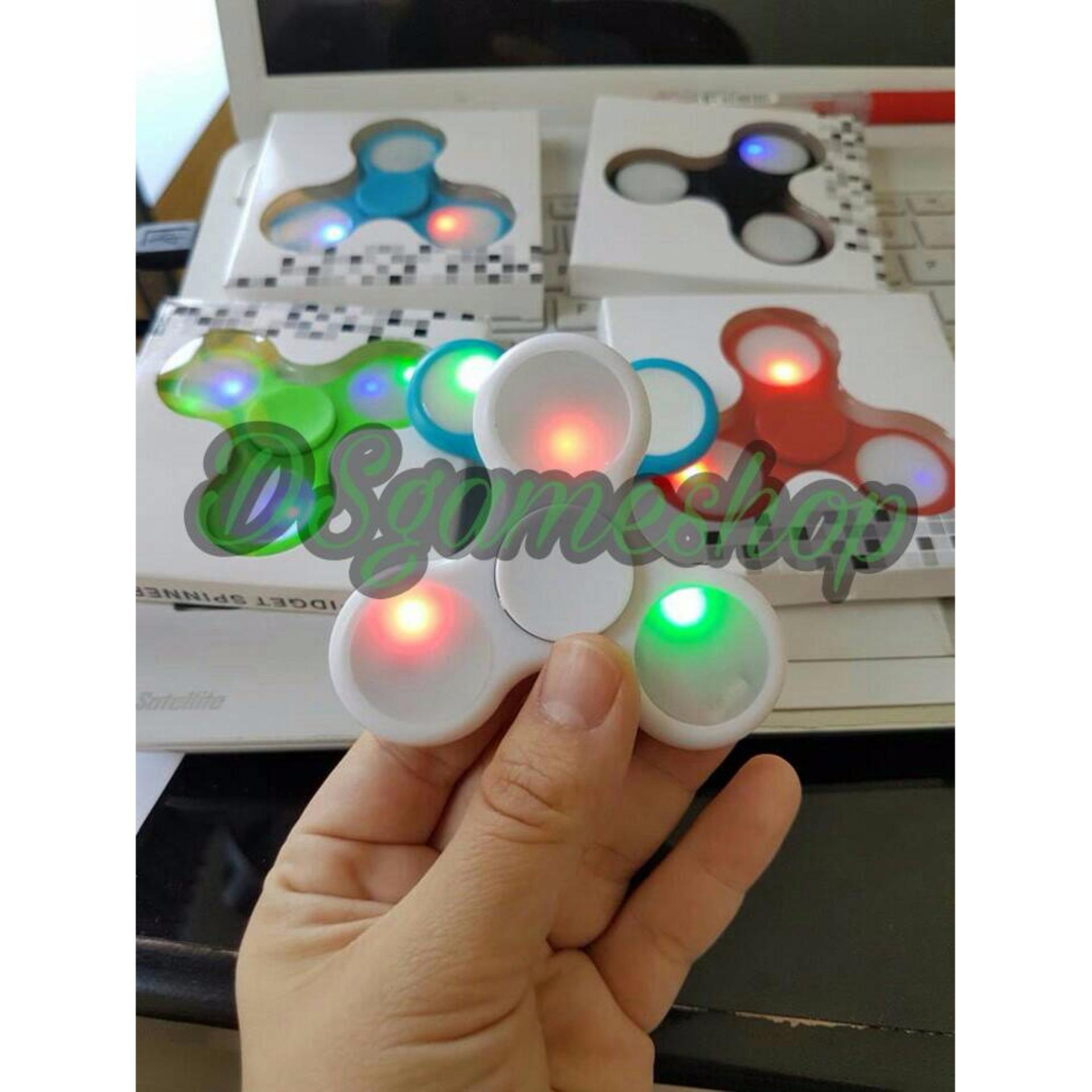 Harga Termurah Barang Import Fidget Spinner Led Tombol On Off Spiner Nyala Lampu Bisa Diatur