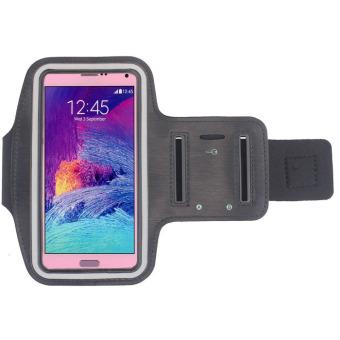Price Checker Baru ruang olahraga ban lengan ARM band yang menutupi kasus untukSamsung Galaxy Note 4 (Hitam) Harga Terendah