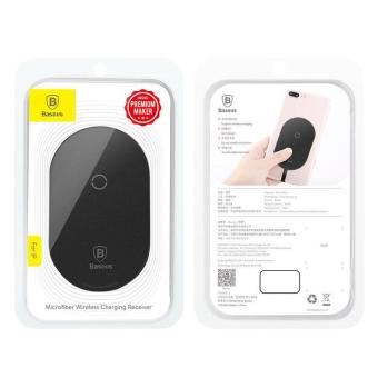 Baseus Qi Wireless Charging Receiver for Type-C Devices - Black - Hitam