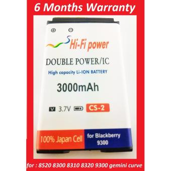 Battery Batre Baterai Blackberry BB 9300 GEMINI 3G CURVE 8520 8300 8310 8320 8530 DOUBLE POWER CS-2 SC2 S-S2 904213 merk HIFI