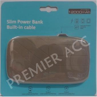 Bcare Powerbank Leather Slim Include Micro USB cable Power Indicator 12000mAh - Real Capacity