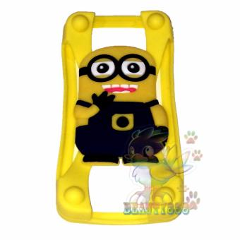 Beauty Silicone Bumper Ring Despicable Me Minions Universal For AllSmartphone Silicone Bumper Ring Case 3D / Rubber Jelly SiliconBumper Ring Case Animasi / Bumper Karet Universal / Bumper Silicone/ Casing Hp - Kuning / Yellow