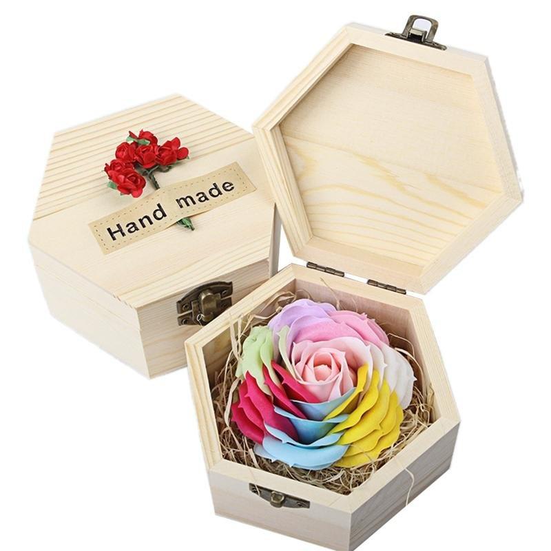 Bermutu Tinggi Kayu Kotak Hadiah Sabun Mawar untuk Valentine's Hari Perayaan Ulang Tahun Hadiah Oleh Luckyg
