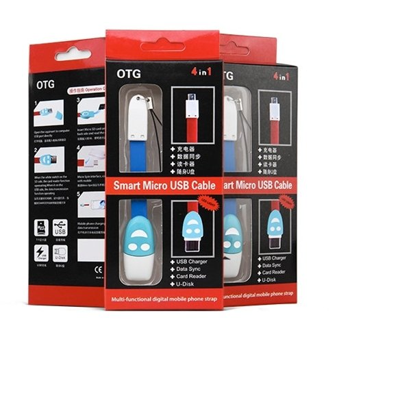 Best CT OTG Micro SD Card Reader USB 2.0 Cable - Biru/
