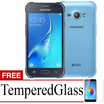 Best Seller Aircase Ultrathin For Samsung Galaxy J1 Ace SM-J110H +Free Tempered Glass - Blue Clear