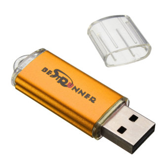 BESTRUNNER 512MB USB 2.0 Flash Memory Stick Pen Drive Storage Thumb Device (Gold)