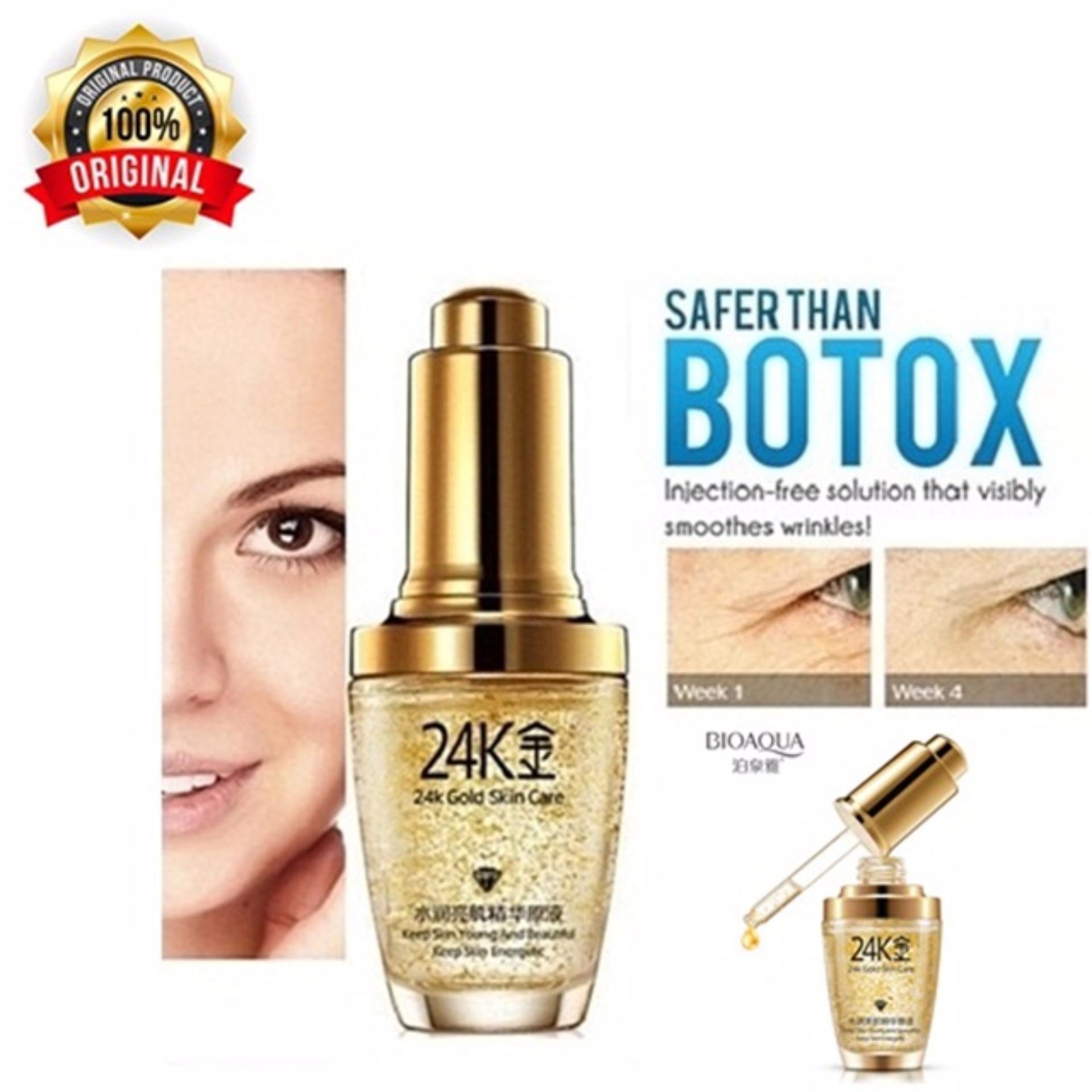 Cek Harga Baru Bioaqua Serum Wajah 24k Gold Essence Skin Care Wonder Essense Blueberry Emas Penghilang Kantung Mata Dan Kerutan