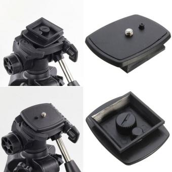 Black Quick Release Plate Tripod Monopod Head Screw Adapter MountFor VCT-D680RM D580RM R640 Velbon PH-249Q Pan Head - intl ...