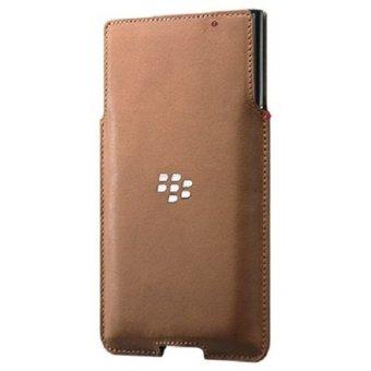 Blackberry Leather Pocket Blackberry Priv - Cokelat