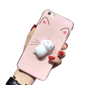 blackhorse 3D Squishy Cute Cat's Paw Soft Silicone Phone Case CoverFor iPhone 6 Plus / 6S Plus - intl