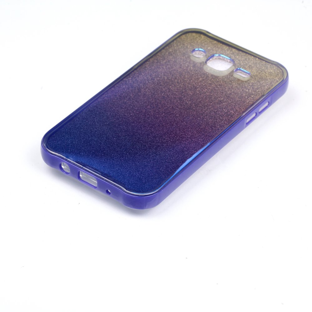 Blue Bling PC Frame + Silicon Mirror Back Case for Samsung GalaxyJ5(2015) ...