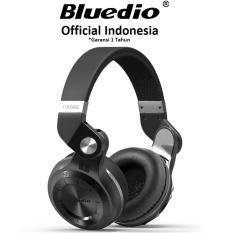 Bluedio T2+ Stereo Bluetooth 4.1 Headset Mic dengan Radio FM - Hitam