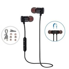 Bluetooth headphone Sweatproof earphone Olahraga Wireless Headset Daya Tarik Magnet Earbud untuk Berolahraga Olahraga Noise Canceling-Intl
