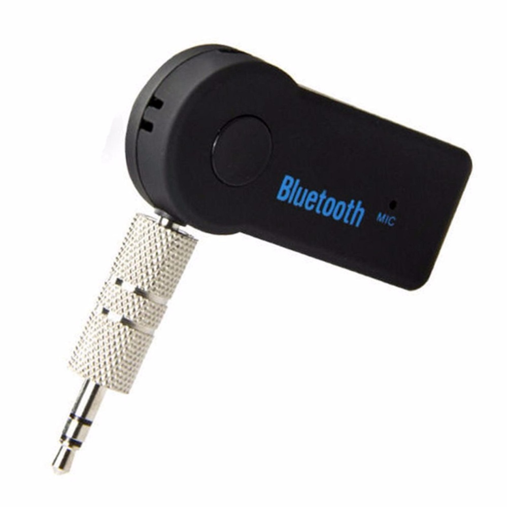 Bluetooth Music Audio Stereo Adapter Receiver for Car 3.5mm AUX Home Speaker MP3 for Car Music Sound System Hands Free Calling Built-in Mic - Black - intl