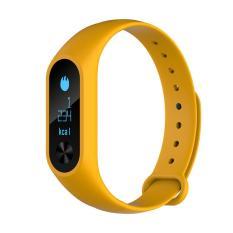 Bluetooth Smart 4.2 Gelang Monitor Denyut Jantung 0.86 Inci OLED (kuning)-International