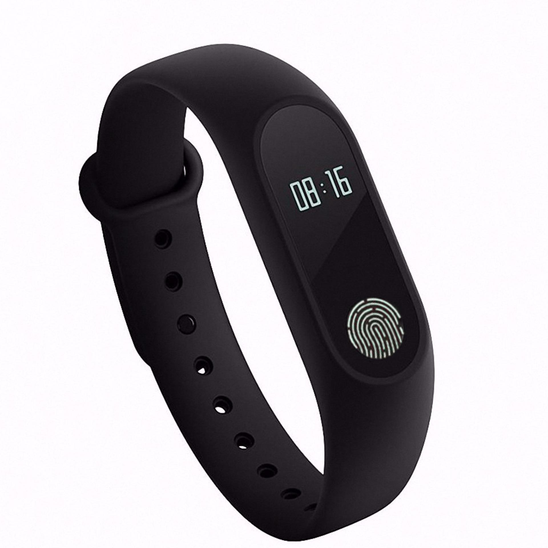 Bluetooth Smart Band M2 Monitor denyut jantung Waterproof IP67 pesan/telepon pengingat .