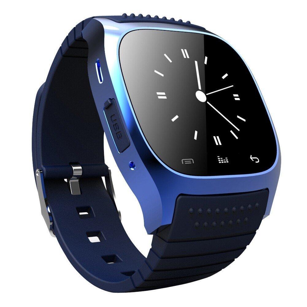 ... Bluetooth telepon Pintar Tahan Air jam tangan pasangan untuk IOS Android (Biru) ...