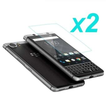 2 Pcs Real 9 H HD 2.5D Tempered Glass Film Screen Protector untuk BlackBerry Keyone